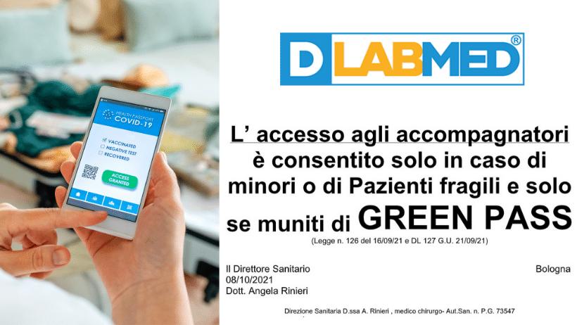 Accesso DLabMed GreenPass